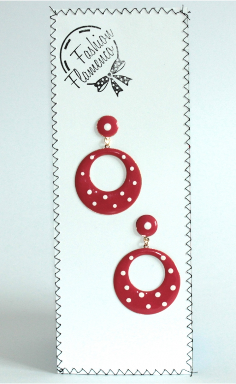 Colored dotted earrings