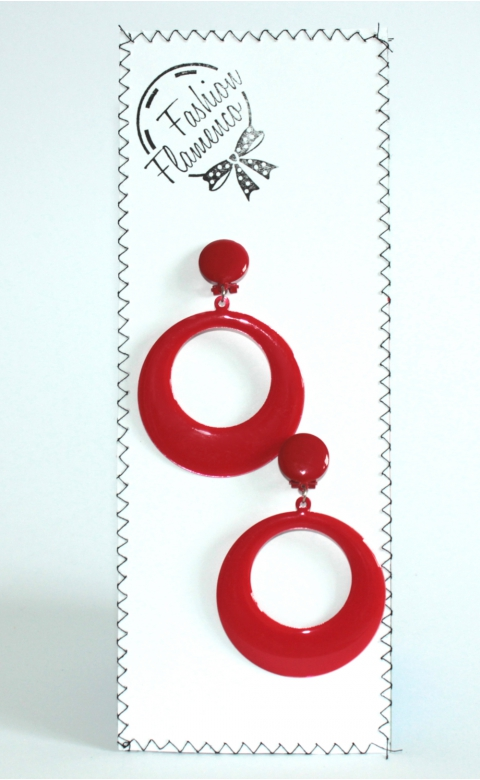 Classic flamenco round earrings